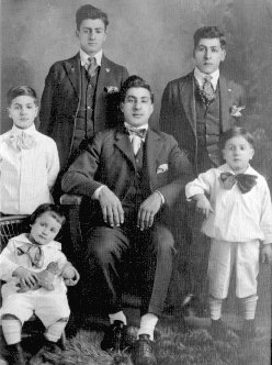 Melrose Hardwares' Founder as a child, top left