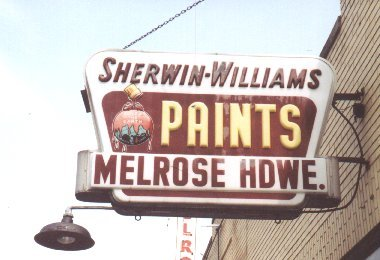 Melrose Hardware Store Sign